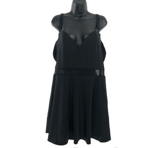 Torrid One Piece Swimsuit Dress Black Mesh Size 4
